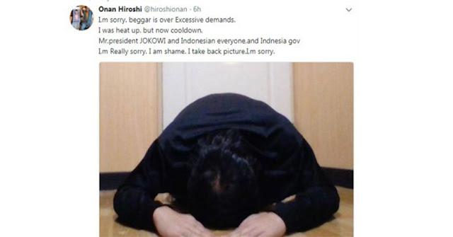 Dapat Kecaman Luas Karena Hina Presiden Jokowi, Komikus Jepang Onan Hiroshi Sujud dan Minta Maaf Begini....