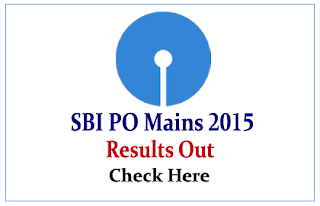 SBI PO Main Exam 2015 (Phase-II) Results Out