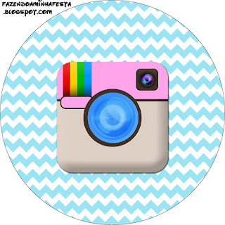 Instagram Party Toppers or Free Printable Candy Bar  Labels.