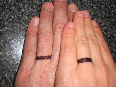 6b2f9aa0f Real Common Sense - Reviews Book: Wedding Band Ring Tattoos-Couple ...