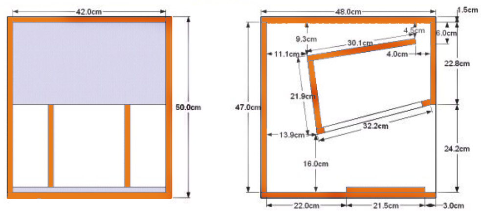 ukuran box speaker sub model cubo 12 inch ara audio. Black Bedroom Furniture Sets. Home Design Ideas