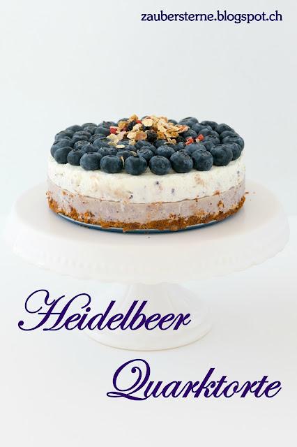 Heidelbeere Rezept, Quarktorte mit Magerquark, Schweizer Foodblog, Schweizer Foodbloggerin, Blog Schweiz