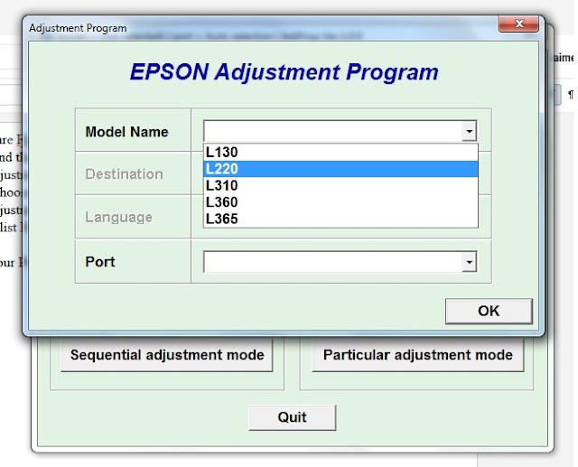 Blogmytuts DOWNLOAD Software Resetter for Epson L130 L220 L310 L360 L365