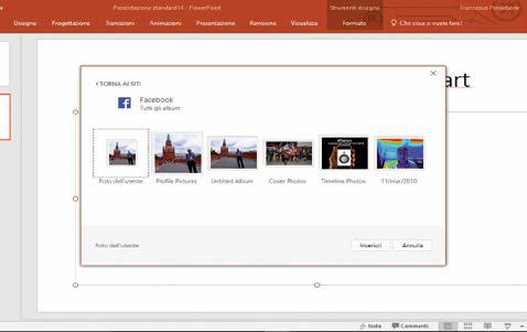 come inserire foto e immagini da facebook in powerpoint