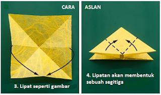 cara membuat origami kupu kupu dari kertas lipat
