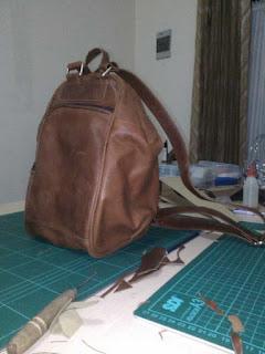 belajar membuat tas ransel