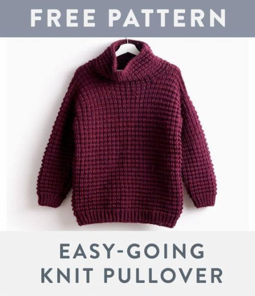 Easy-Going Knit Pullover - Free Pattern