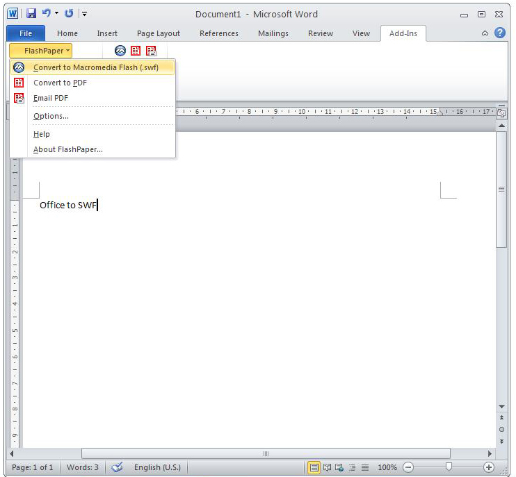 Convert Microsoft Office Documents to SWF FLash | Free