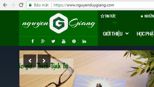 nguyenduygiang.com đã cài đặt / Bật HTTPS
