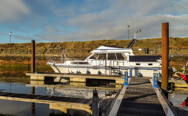 Photo of Ravensdale soaking up the winter sun in Maryport Marina