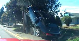 شاهد بالفيديو  شاهد سائق كمارو احمق يتلقى ما يستحقه