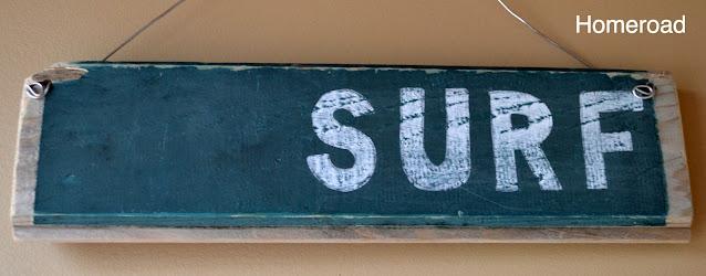 SURF driftwood sign