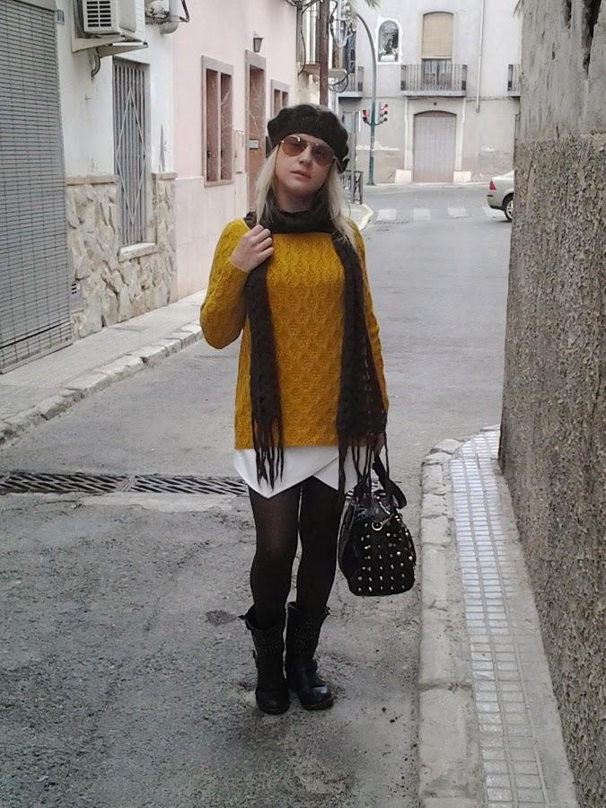 falda-origami-con-jersey-para-invierno