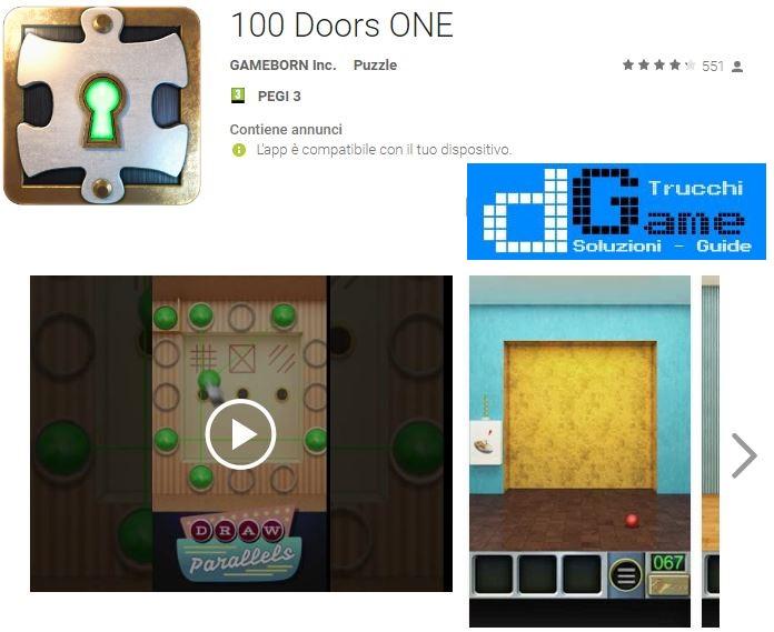 Soluzioni 100 Doors ONE