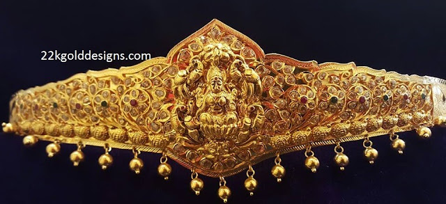210grams Lakshmi Uncut Diamond Gold Vaddanam