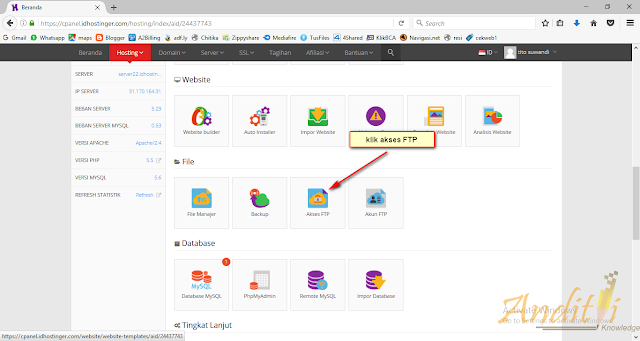 Cara Mengakses File di Dalam Hosting menggunakan FileZilla-anditii.web.id