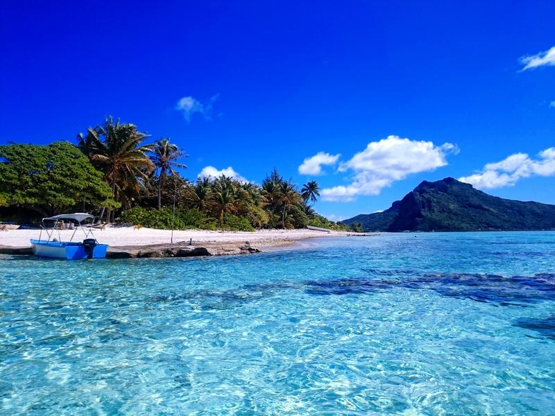 Klopetrotterin sininen kukka: Maupiti, Tahiti