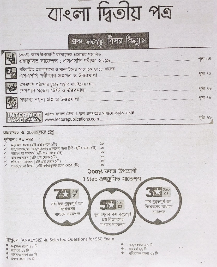 SSC Bangla 2nd Paper CQ Suggestion (Page 01-06) সৃজনশীল