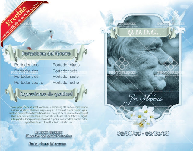 Complete Funeral Invitation Card Template