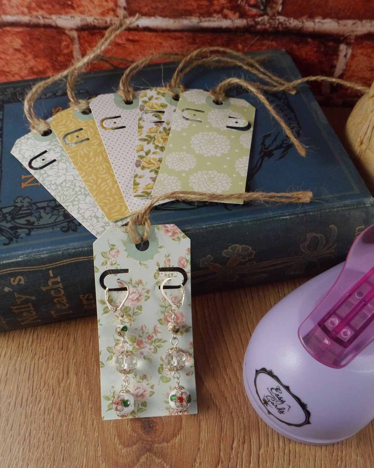 These Craft Card Shaped Tags, Simply Stamped With My Logo Are Great For My  Earrings Using Fallen Angel Brass Findings