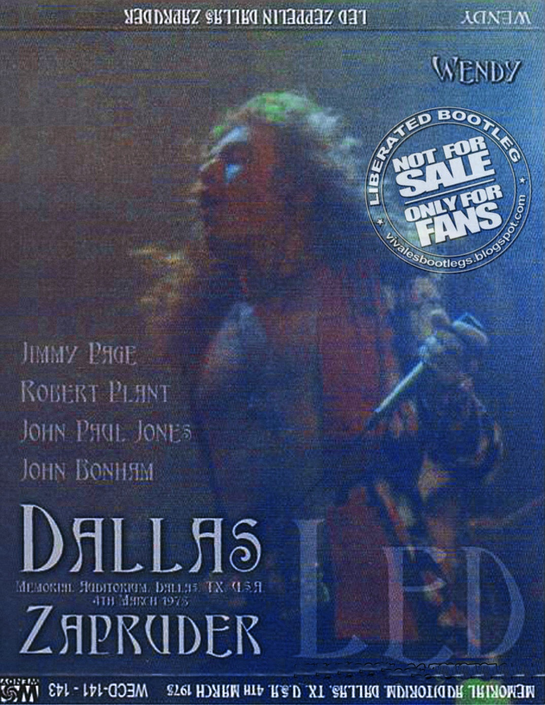 1975 - Led Zeppelin -  Zapruder - Dallas