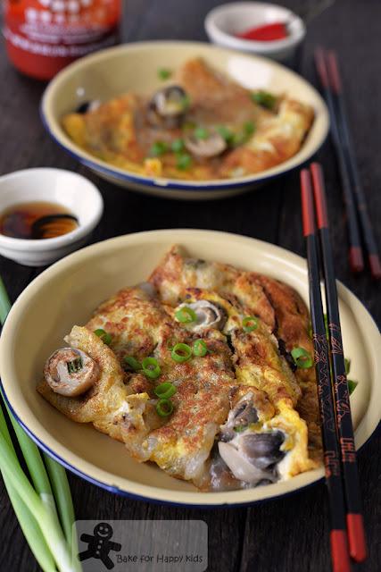or luak oyster omelette pancake vegetarian healthy