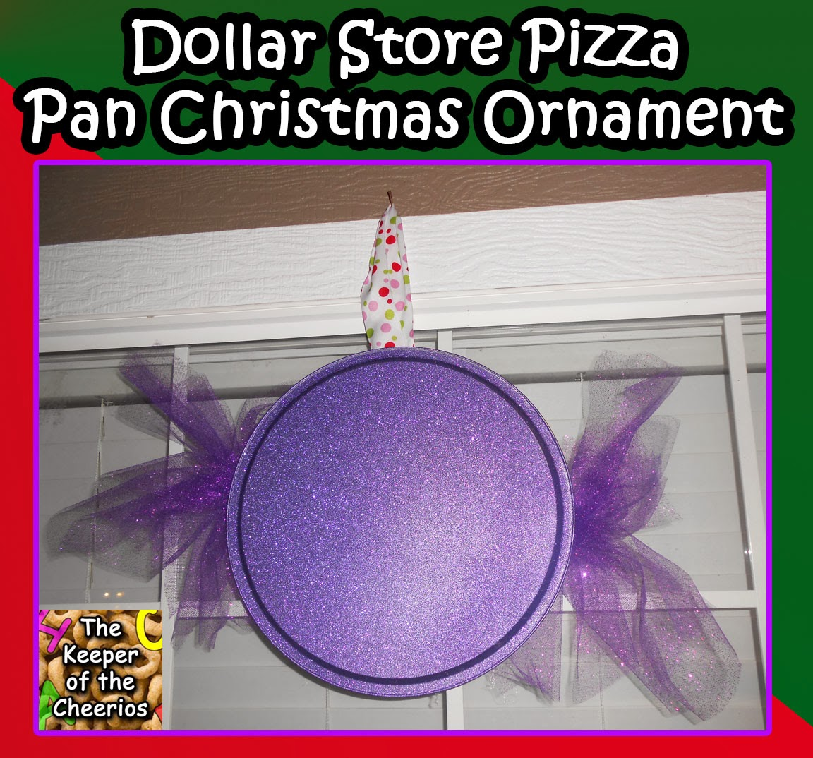 Dollar Store Christmas Lights Safe: Dollar Store Pizza Pan Christmas Ornament