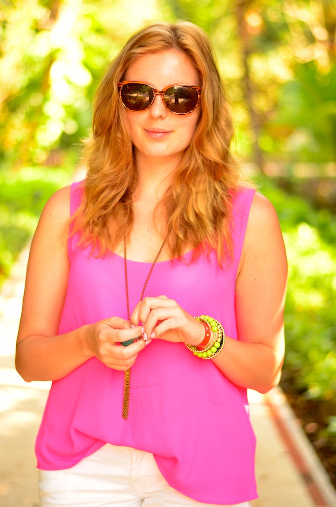 How to Wear Neon Pink