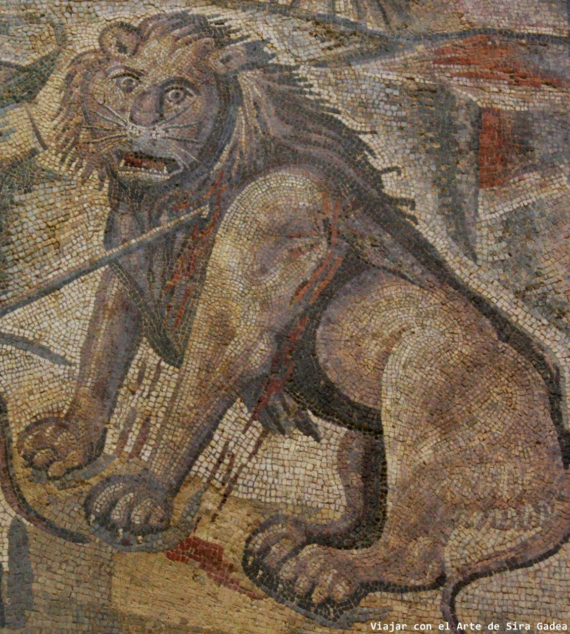 mosaico León La Olmeda