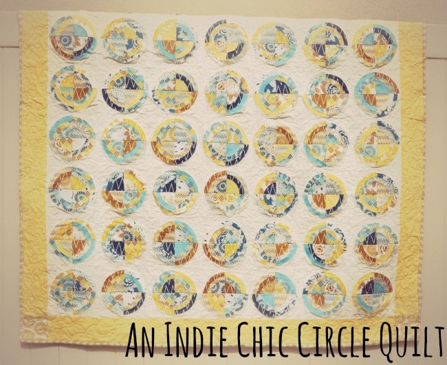 Indie Chic Circle Quilt A Bulls Eye Quilt Tutorial Simple Simon