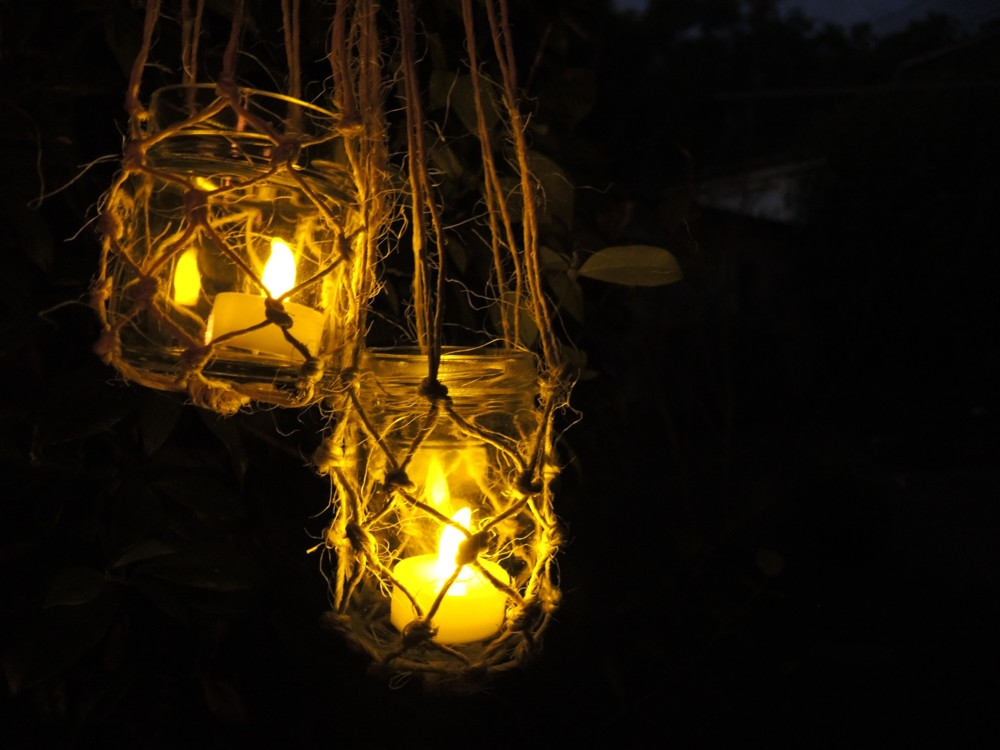 katiecrackernuts.blogspot.com.au || handmade macrame hanging lanterns