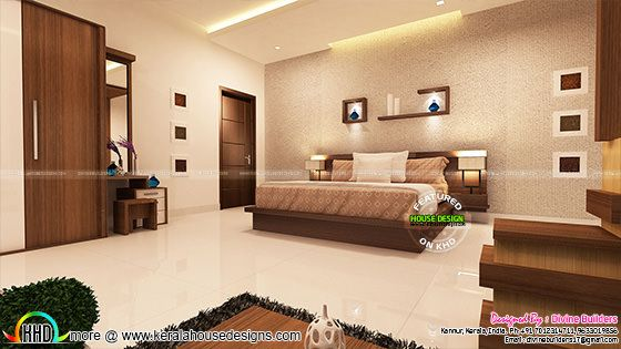 Beautiful master bedroom interior, Kerala