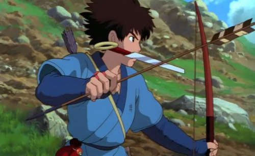Ashitaka Princess Mononoke 1997 animatedfilmreviews.filminspector.com