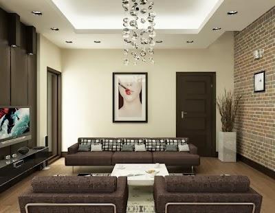 Salas en color chocolate salas con estilo - Pared marron chocolate ...