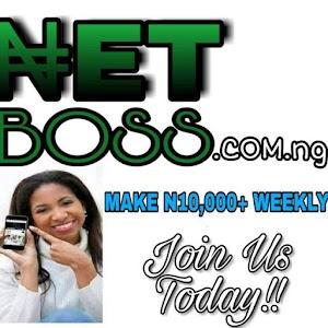 MAKE 20K WEEKLY NETBOSS.COM.NG INCOME-NAIRA LEAVE
