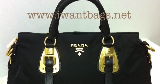 ec02110c7ce1 I Want Bags backup: Prada Tessuto Bauletto Solf Calf Top Handle Tote BN1903  -Black