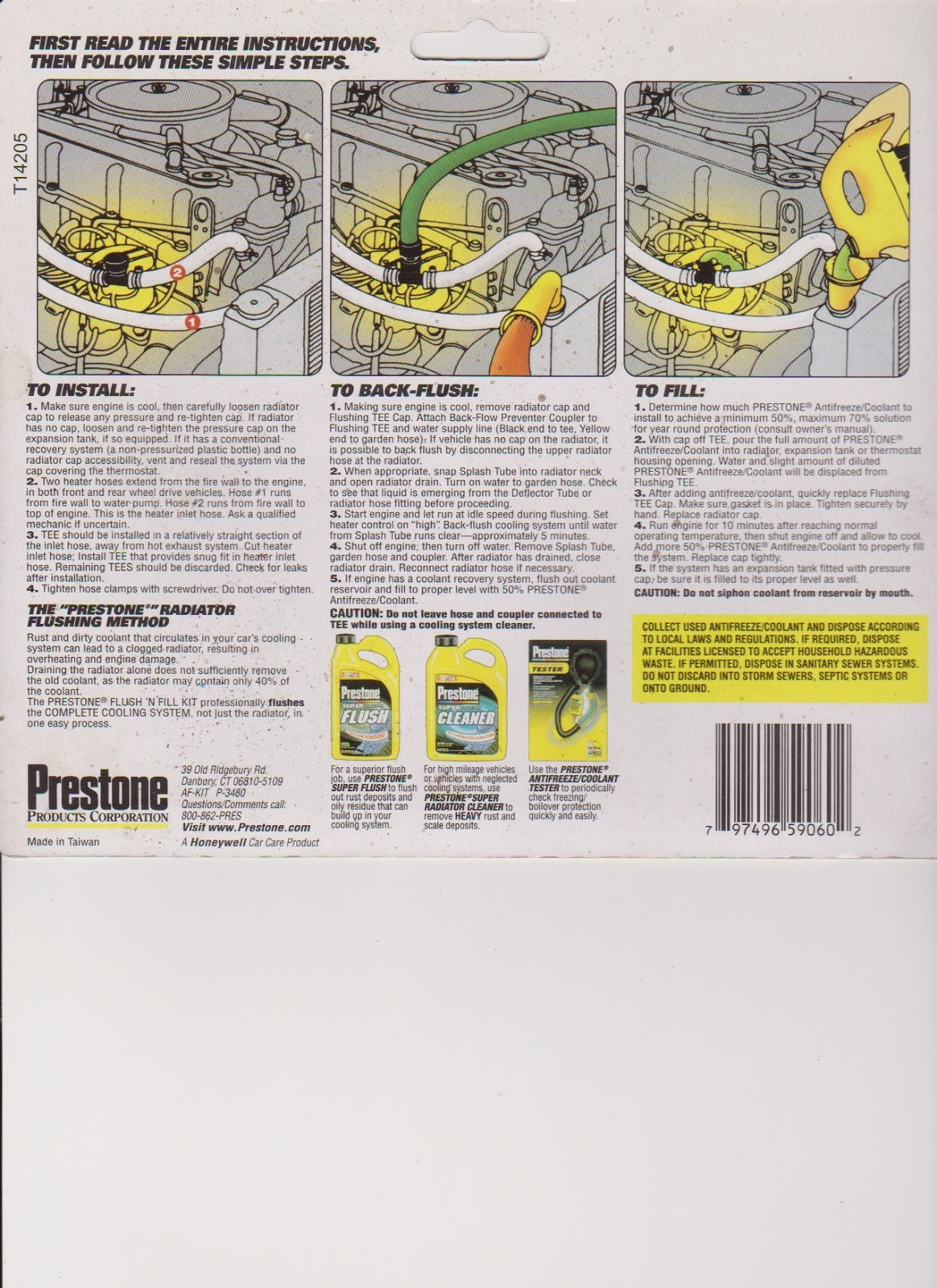 How to use a radiator flush kit with pictures and videos.