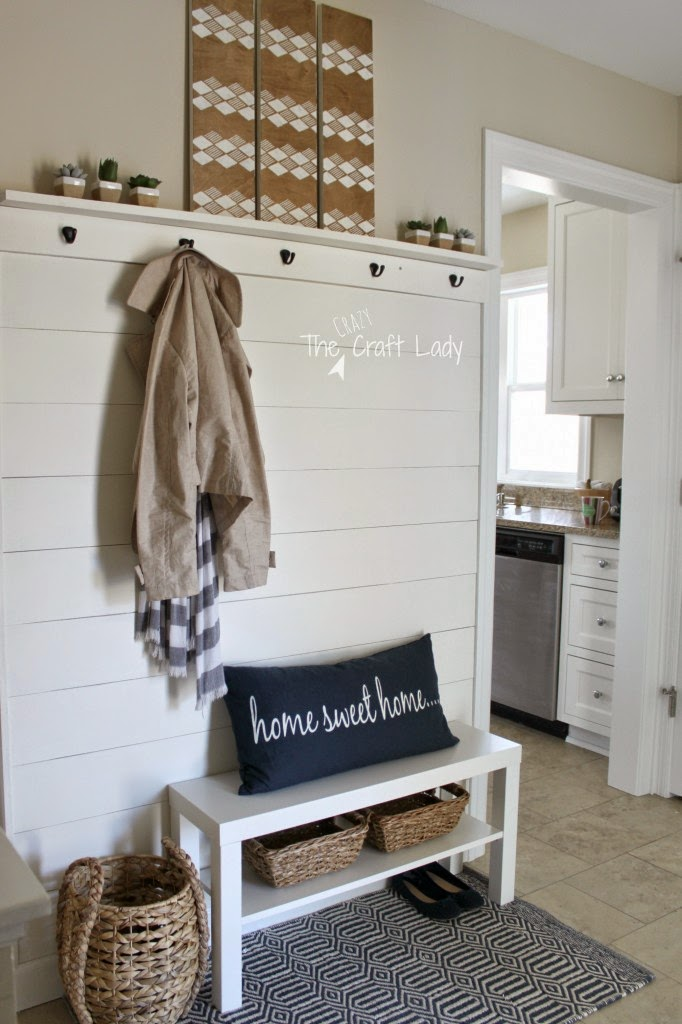 plank wall entry