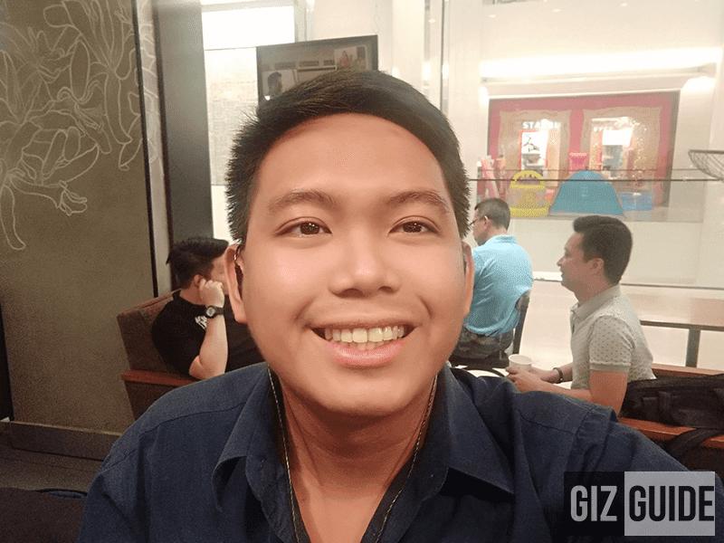Selfie dim light test