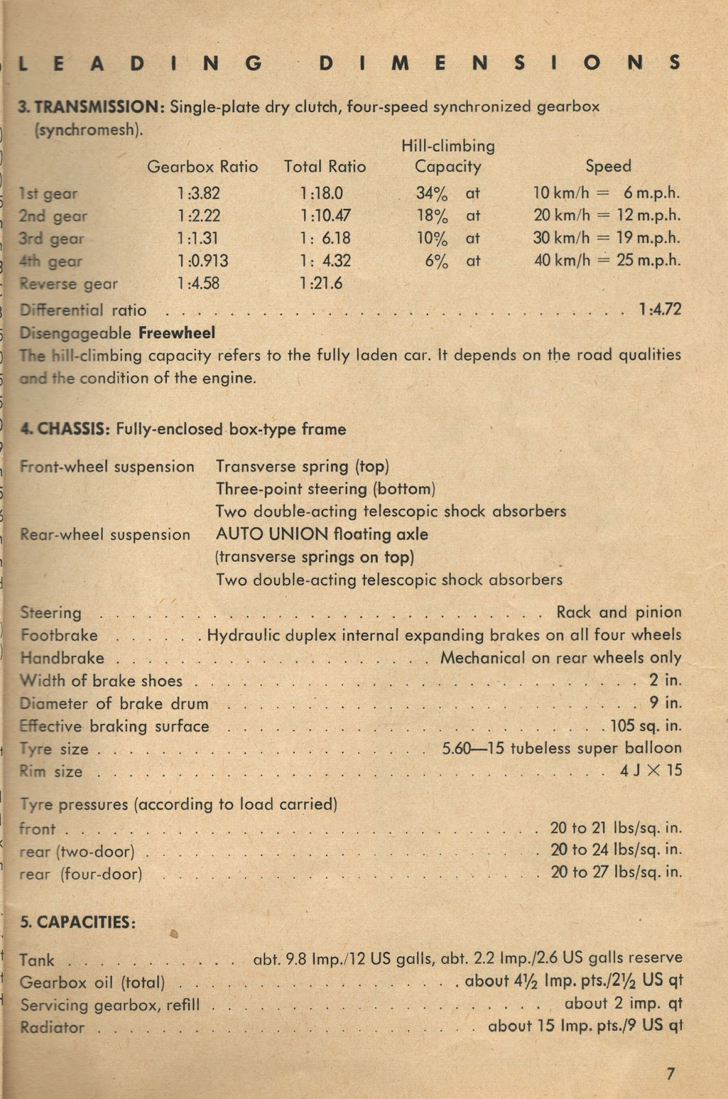 1958 DKW 3=6 Owners Manual