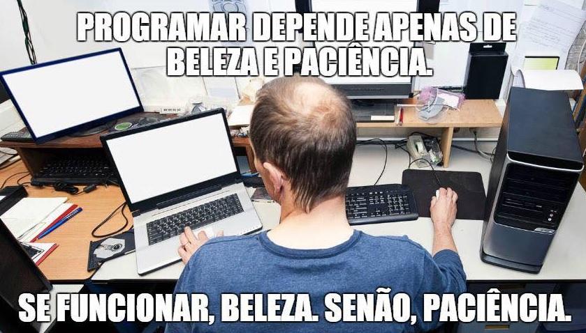 programar depende beleza paciencia