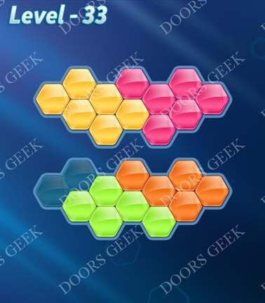 Block! Hexa Puzzle [Rainbow A] Level 33 Solution, Cheats, Walkthrough for android, iphone, ipad, ipod