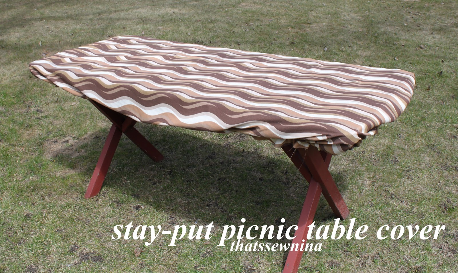 Great idea a stay put picnic table cover