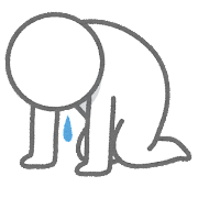 挫折のイラスト(棒人間)