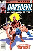 Daredevil v1 #164 marvel comic book cover art by Frank Miller Wally Wood