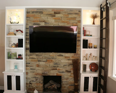 Toronto Wall Unit TV Fireplace Renovation