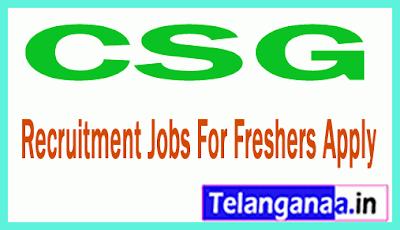 CSG Recruitment Jobs For Freshers Apply