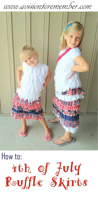 Patriotic Ruffle Skirts Sewing How to on A Vision to Remember