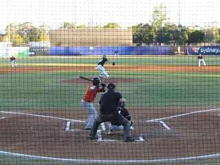 First pitch, Cavalry vs. Blue Sox