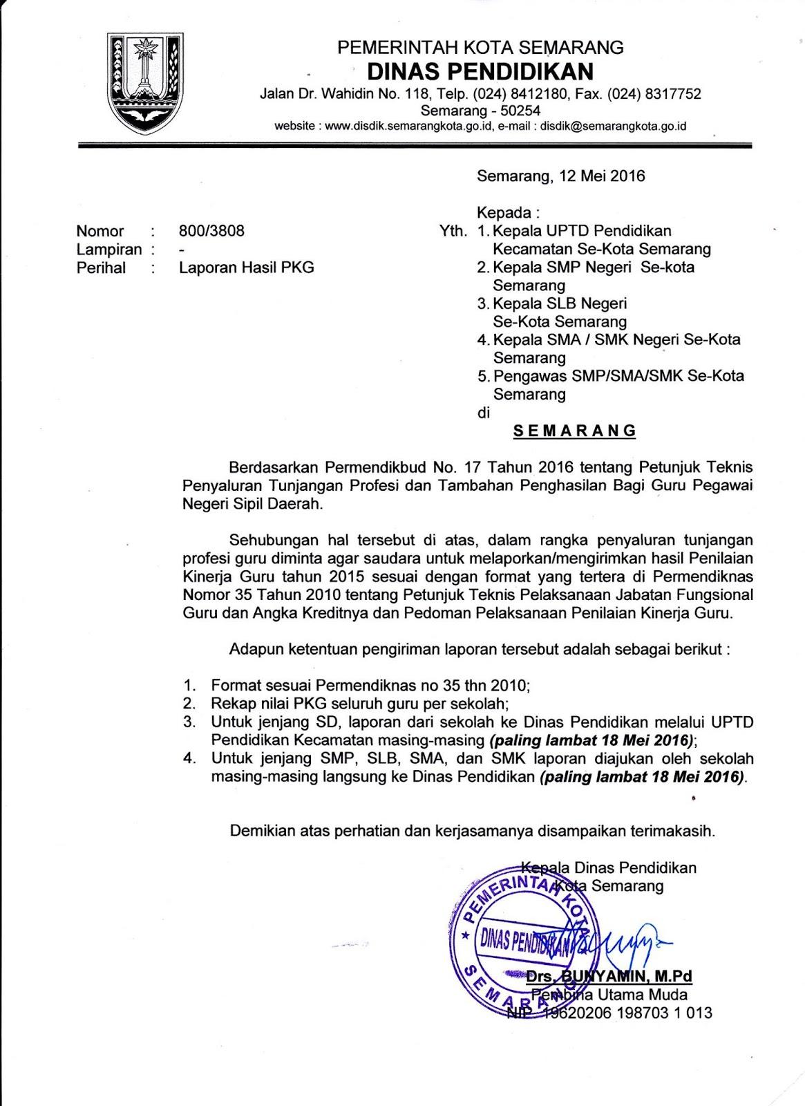 Uptd Pendidikan Kecamatan Genuk 2016